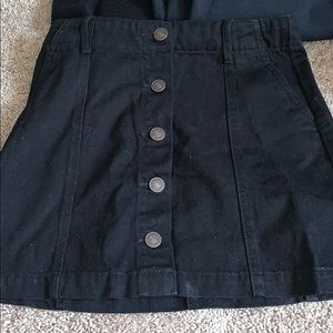 Forever 21 Denim Button Down Skirt